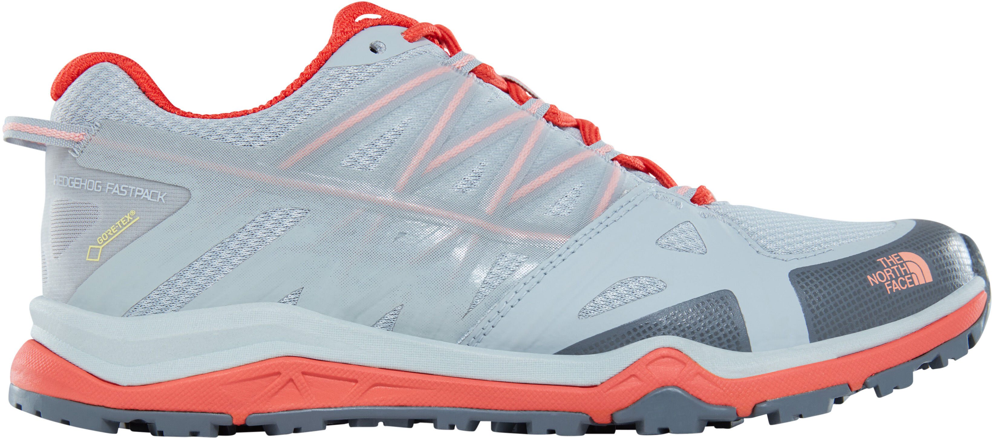 178e0e63d The North Face Hedgehog Fastpack Lite II GTX Shoes Women high rise  grey/fire brick red